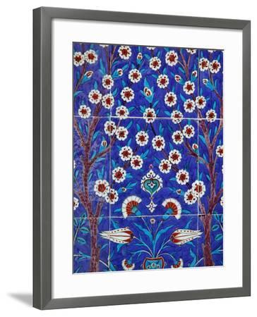 Iznik Tiles in Topkapi Palace, Istanbul, Turkey, Europe-Godong-Framed Photographic Print