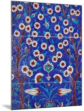Iznik Tiles in Topkapi Palace, Istanbul, Turkey, Europe-Godong-Mounted Photographic Print