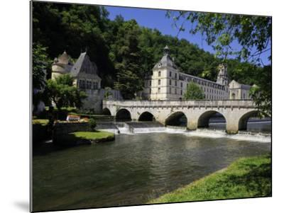 Pont Coud, Dronne River and Abbey, Brantome, Dordogne, France, Europe-Peter Richardson-Mounted Photographic Print