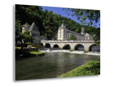 Pont Coud, Dronne River and Abbey, Brantome, Dordogne, France, Europe-Peter Richardson-Metal Print