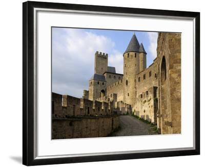 Walled and Turreted Fortress of La Cite, Carcassonne, Languedoc-Peter Richardson-Framed Photographic Print