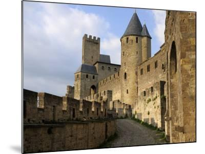 Walled and Turreted Fortress of La Cite, Carcassonne, Languedoc-Peter Richardson-Mounted Photographic Print