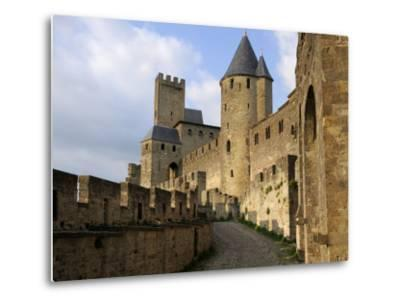 Walled and Turreted Fortress of La Cite, Carcassonne, Languedoc-Peter Richardson-Metal Print