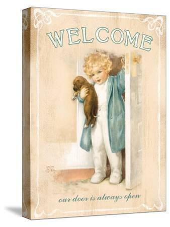Welcome-Bessie Pease Gutmann-Stretched Canvas Print