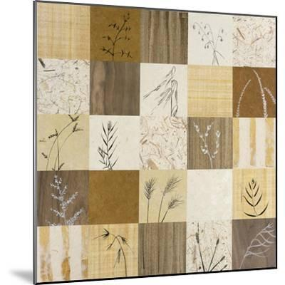 Patchwork of Leaves I-Julieann Johnson-Mounted Premium Giclee Print