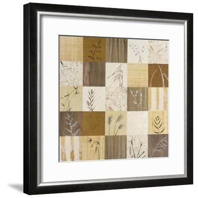 Patchwork of Leaves I-Julieann Johnson-Framed Premium Giclee Print