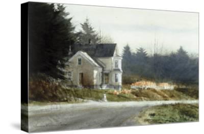 Roadside Pumpkins-Thomas William Jones-Stretched Canvas Print