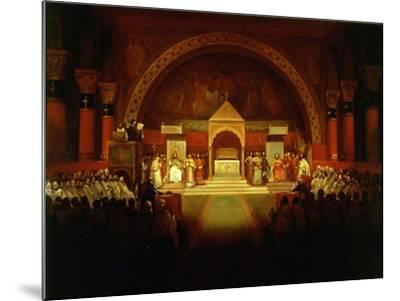 Meeting of Chapter of Knights Templar in Paris, April 22, 1147-Francois-Marius Granet-Mounted Giclee Print