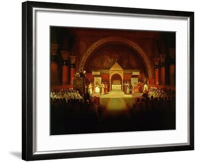 Meeting of Chapter of Knights Templar in Paris, April 22, 1147-Francois-Marius Granet-Framed Giclee Print