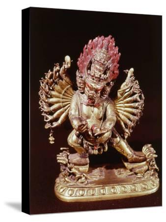 Heruka, Buddhist God, Emanation of the Buddha Aksobhya, Gilded Bronze, 18th century--Stretched Canvas Print