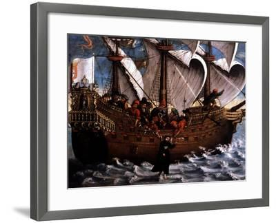 Miracle of Saint Francis Xavier, Jesuit Missionary--Framed Giclee Print