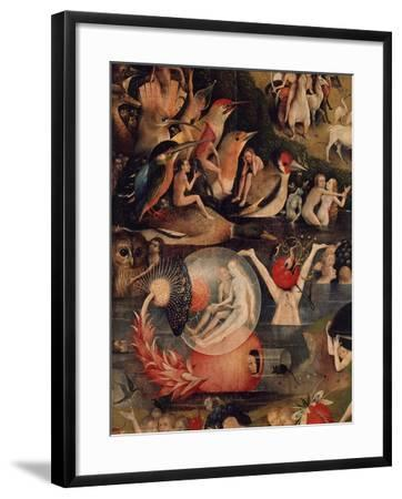 Allegory of Luxury, Central Panel of The Garden of Earthly Delights, c. 1503-04-Hieronymus Bosch-Framed Giclee Print