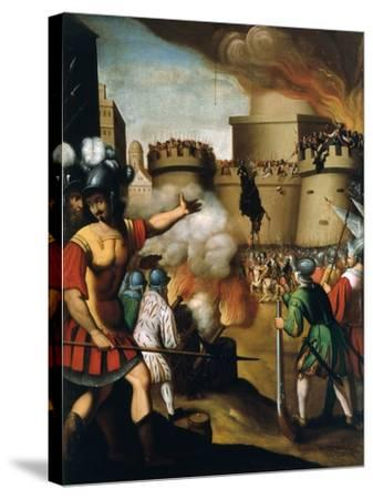Saint Ignatius Loyola, 1491-1556 Founder of Jesuit Order, at the Siege of Pampeluna--Stretched Canvas Print