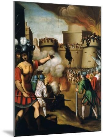Saint Ignatius Loyola, 1491-1556 Founder of Jesuit Order, at the Siege of Pampeluna--Mounted Giclee Print