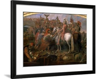 Julius Caesar, 100-44 BC Roman general, Sending Roman Colony to Carthage-Claude Audran the Younger-Framed Giclee Print