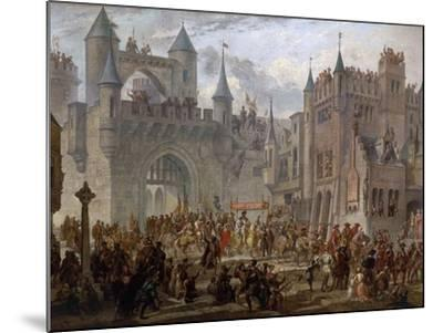Henry II, 1519-59 King of France, entering Metz, France, 18 April 1552-Auguste Migette-Mounted Giclee Print
