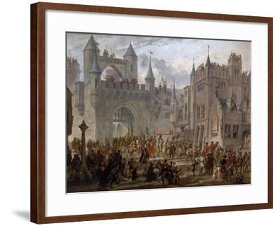 Henry II, 1519-59 King of France, entering Metz, France, 18 April 1552-Auguste Migette-Framed Giclee Print