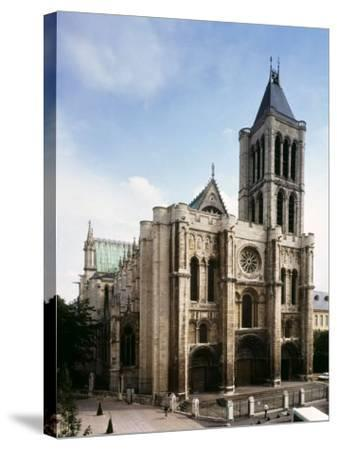 Saint-Denis Cathedral, Gothic, founded 1137 by Abbot Suger--Stretched Canvas Print