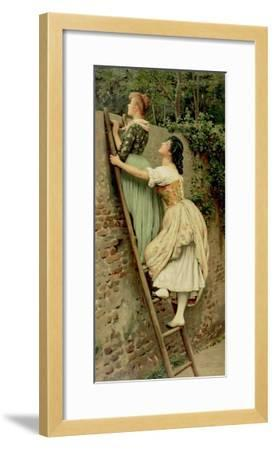 Curiosity, from the Pears Annual, Christmas, 1892-Eugen Von Blaas-Framed Giclee Print