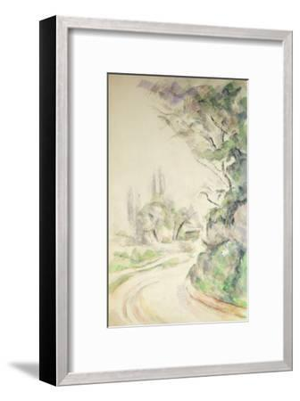 The Winding Road, c.1900-06-Paul C?zanne-Framed Giclee Print