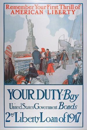 American War Bonds Poster, 1917--Stretched Canvas Print