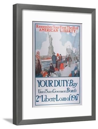 American War Bonds Poster, 1917--Framed Giclee Print
