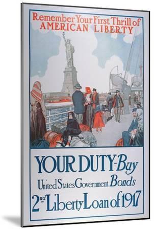 American War Bonds Poster, 1917--Mounted Giclee Print