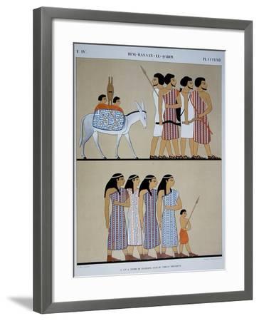 Fresco of the Tomb of Nevothph at Beni-Hassan-El-Qadim-Jean Francois Champollion-Framed Giclee Print