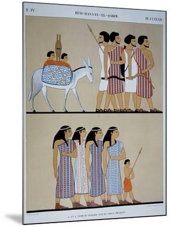 Fresco of the Tomb of Nevothph at Beni-Hassan-El-Qadim-Jean Francois Champollion-Mounted Giclee Print