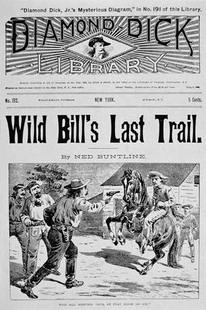 Front Cover of 'Wild Bill's Last Trail', a Ned Buntline 'Dime' Novel Featuring Wild Bill Hickok--Stretched Canvas Print