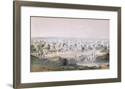 Kano, Nigeria, in 1851, 'Travels and Discoveries in North and Central Africa' by Heinrich Barth-Johann Martin Bernatz-Framed Giclee Print