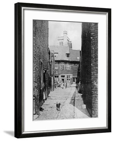 Street Scene in Victorian London--Framed Giclee Print