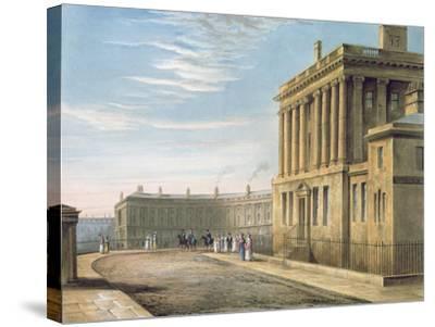 The Royal Crescent, Bath 1820-David Cox-Stretched Canvas Print