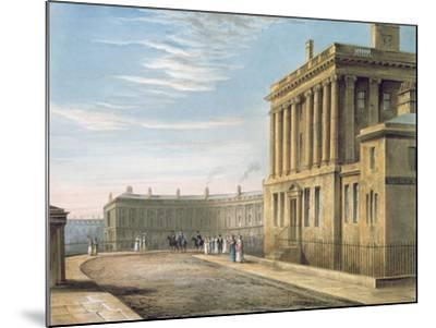 The Royal Crescent, Bath 1820-David Cox-Mounted Giclee Print