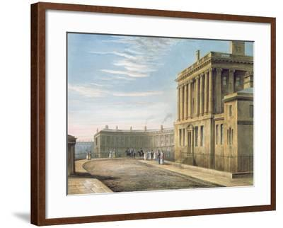 The Royal Crescent, Bath 1820-David Cox-Framed Giclee Print