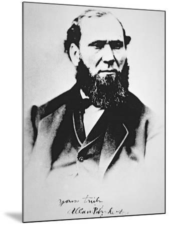 Portrait of Allan Pinkerton, founder of Pinkerton's National Detective Agency in 1850--Mounted Giclee Print