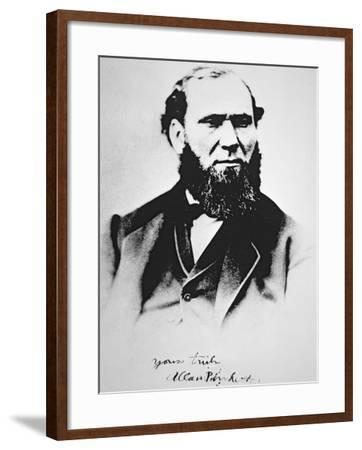 Portrait of Allan Pinkerton, founder of Pinkerton's National Detective Agency in 1850--Framed Giclee Print