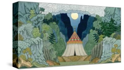 Sketch for the Opera, 'The Golden Cockerel', by Nikolai Rimsky-Korsakov-Ivan Bilibin-Stretched Canvas Print