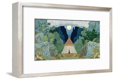 Sketch for the Opera, 'The Golden Cockerel', by Nikolai Rimsky-Korsakov-Ivan Bilibin-Framed Giclee Print