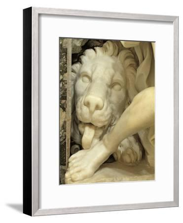 A Lion Licking the foot of Daniel-Giovanni Lorenzo Bernini-Framed Giclee Print