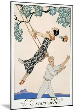 The Swing, 1923-Georges Barbier-Mounted Giclee Print