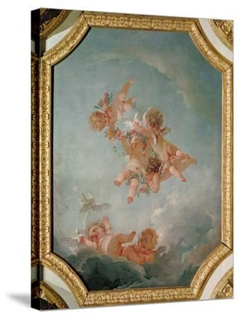 Spring, from a Series of the Four Seasons in the Salle du Conseil-Francois Boucher-Stretched Canvas Print