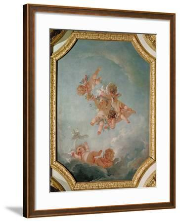 Spring, from a Series of the Four Seasons in the Salle du Conseil-Francois Boucher-Framed Giclee Print