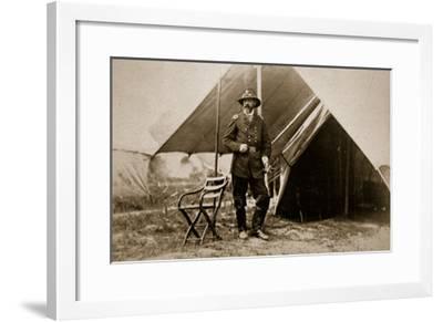 General George G. Meade in Camp, 1861-65-Mathew Brady-Framed Giclee Print