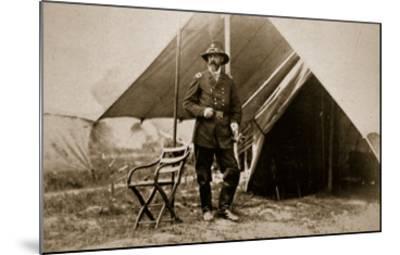 General George G. Meade in Camp, 1861-65-Mathew Brady-Mounted Giclee Print