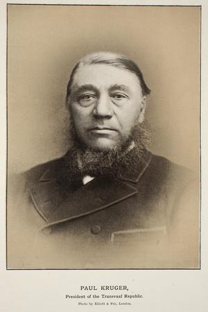 Paul Kruger, President of the Transvaal Republic-Elliott & Fry Studio-Stretched Canvas Print