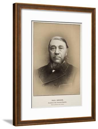 Paul Kruger, President of the Transvaal Republic-Elliott & Fry Studio-Framed Giclee Print