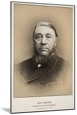Paul Kruger, President of the Transvaal Republic-Elliott & Fry Studio-Mounted Giclee Print