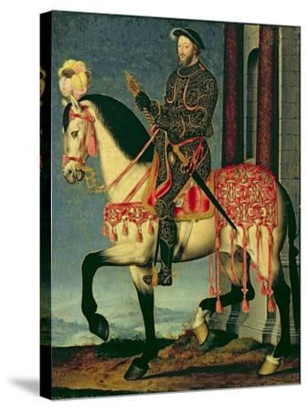 Equestrian Portrait of Francis I of France-Francois Clouet-Stretched Canvas Print