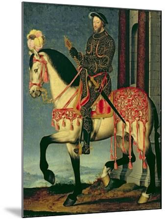 Equestrian Portrait of Francis I of France-Francois Clouet-Mounted Giclee Print